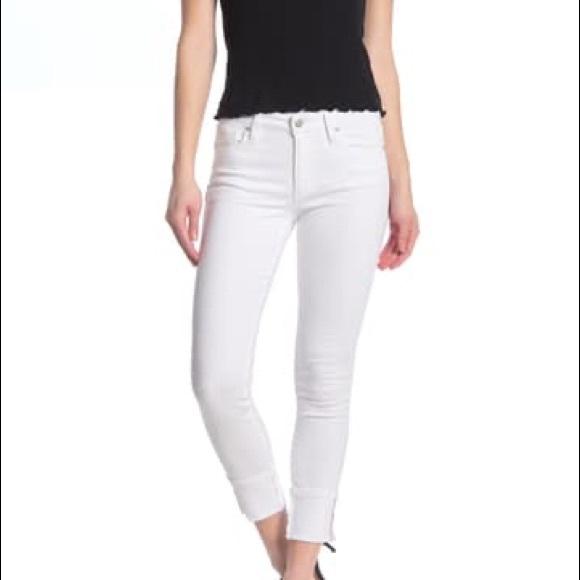 Joe Jeans White Denim Crop Skinny Jeans 29